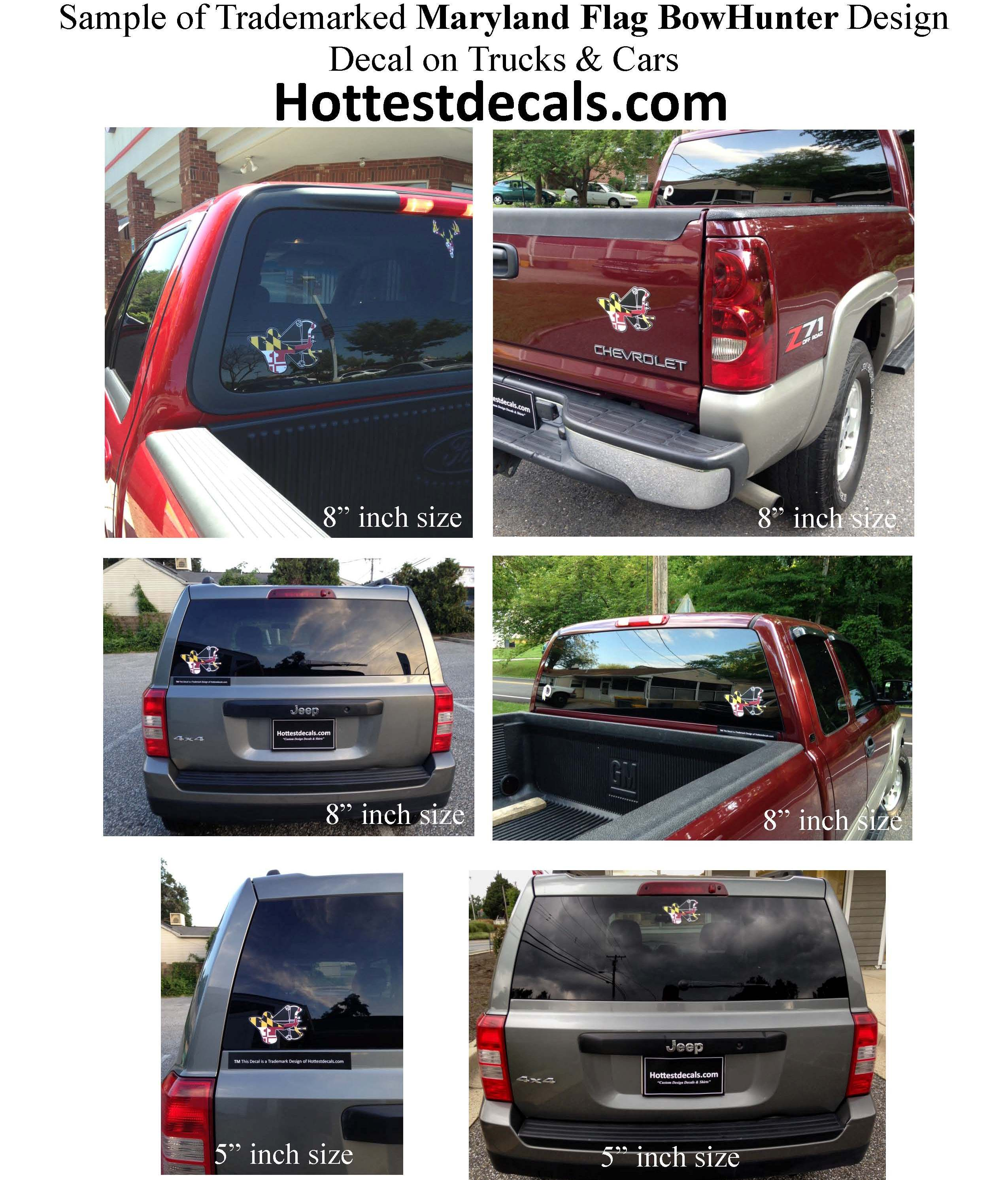 Maryland BowHunter decal TradeMark of Hottestdecals.com July 30-2015