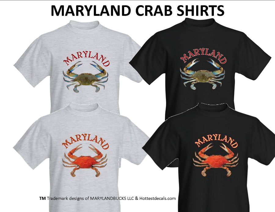 Crab shirts DS WS 2016 TM Trademark of MARYLANDBUCKS LLC & Hottestdecals.com - Copy