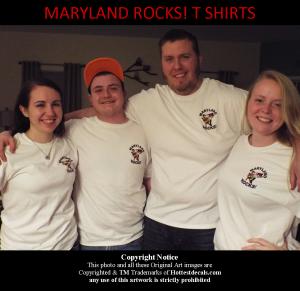 Maryland Rocks Front T Shirt TM Hottestdecals.com 2015