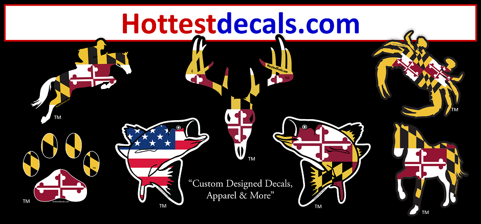 Maryland Flag Decal Sticker HOTTEST DECALS