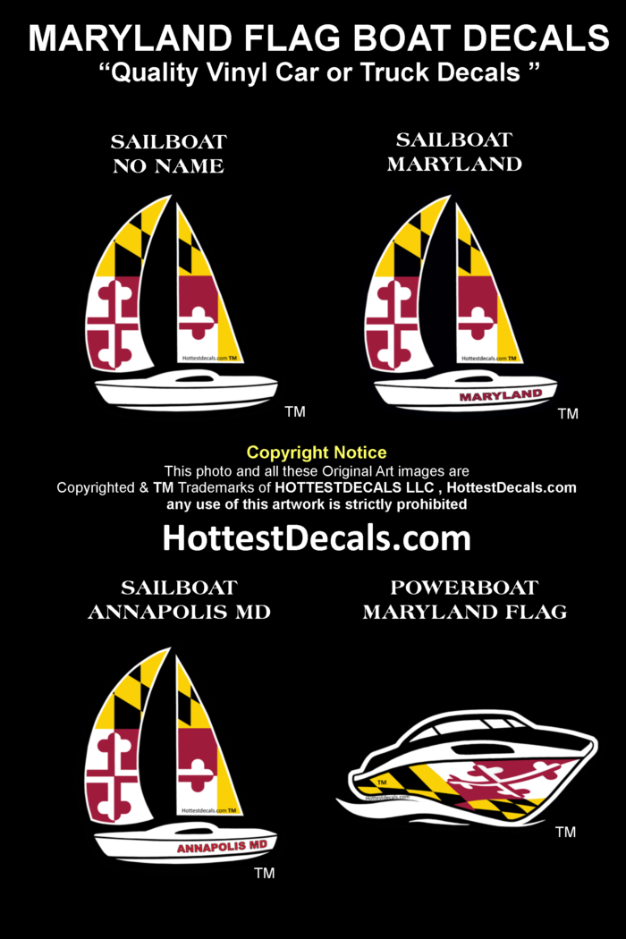 Maryland Flag Decal Sticker